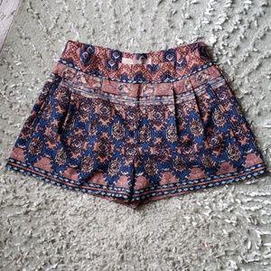 Forever 21 Boho Pleated Shorts